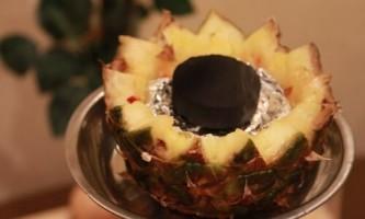 Як зробити кальян на ананасі