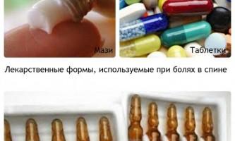 Які ліки призначають при болях в спині