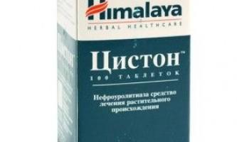 Препарат «цистон»: інструкція із застосування